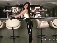 Bar, Babe, Bar, Fetish, Latex, Posing