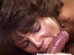 Lady, Aged, Blowjob, Brunette, Legs, Mature
