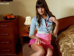 Lovely brunette honey simply loves stripping down in the bedroom porn tube video