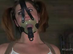 Slutty bint CiCi Rhodes loves being tied up and gagged