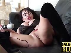 Blonde babe Jaiden West with big fake boobs doing a solo porn tube video