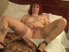 Tattooed Amateur Redhead Interracial 1