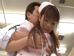 Cute Asian in uniform giving huge dick blowjob superbly porn tube video