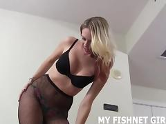 Jerk off to my sexy new fishnets JOI