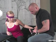 Blindfolded cuties sucking and getting drilled by their bald friends porn tube video