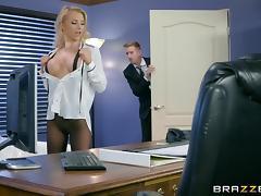Boss, Babe, Big Tits, Blonde, Blowjob, Boss
