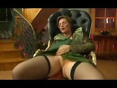 Granny get fucked in her chair tube porn video