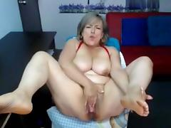 Nice granny on webcam