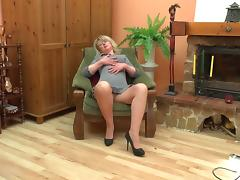 Boots, Blonde, Boots, Heels, Mature, Old