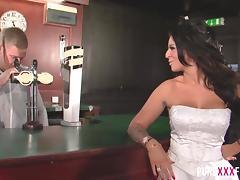 busty cuckold bride shagging the bartender tube porn video