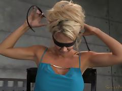 Big tits bondage blonde face fucked roughly in BDSM porn tube video