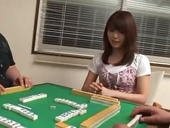 Seducing the sweet Azumi and checking out her beautiful vagina