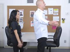 Another shagging session at the office with the horny Megan Rain porn tube video