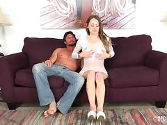 It's a nice exotic cock and Natasha wants it in the doggy style tube porn video