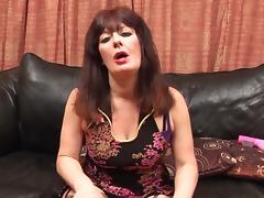 Hot ass mature granny stripteasing before masturbating