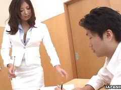 Naughty teacher getting her wet pussy cream fucked tube porn video