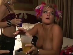 Cute blonde with juicy tits and her friend are acting nasty again!