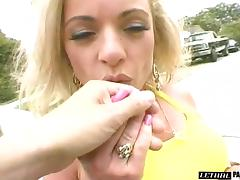 Blonde in high heels close up ravished hardcore doggystyle