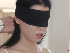 Blindfolded, Banging, Blindfolded, Couple, Cowgirl, Doggystyle
