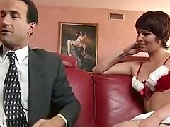 Short hair slut gets nailed on the sofa porn tube video