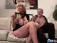 Blonde MILF fucks in front of her husband porn tube video