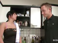 German Hot Step-Mom Seduce to Fuck by Virgin Step-Son
