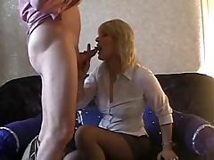 Blonde milf oral