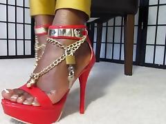 Black, Black, Ebony, Feet, Femdom
