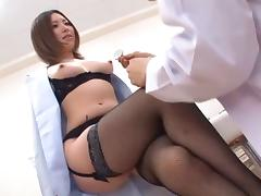 Hot nurse in uniform loves when throbbed hardcore missionary porn tube video