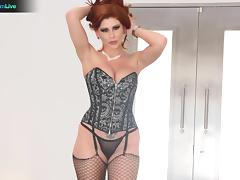 Nympho redhead Brooklyn Lee shaking in orgasms