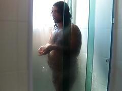 I taking shower and masturbating