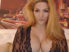 Gorgeous blonde big tits talks dirty. porn tube video