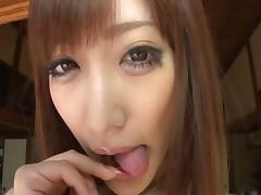 Lusty Japanese playgirl Kirara Asuka gets her tight pussy slammed