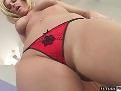 Smooth pussy filling for a blonde cougar with big melons porn tube video