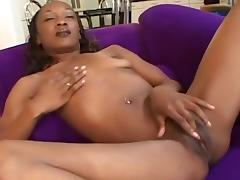 Toned Black Babe Stretched By Huge Cock