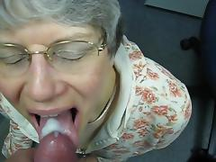 German, Cum in Mouth, German, Granny, Mature, Old
