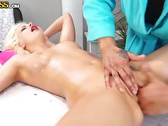 lana sweet gets special massage