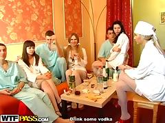 Blindfolded, Babe, Blindfolded, Doctor, Handjob, Orgy