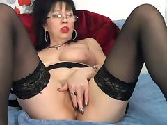 Big Boobs Mature Glasess porn tube video