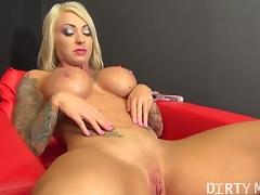 Pierced Tatted Slut Dani Andrews Masturbates