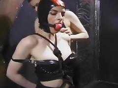 Latex, BDSM, Big Tits, Blonde, Couple, Femdom