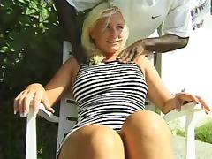 Big black cock pounds the asshole of a slutty blonde babe