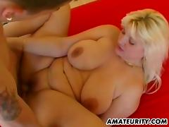 Fat amateur wife homemade suck and fuck with cumshot porn tube video