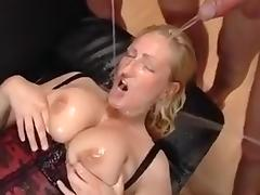 Gangbang With Busty Blonde porn tube video
