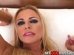 Dirty talker blonde milf gets rough fucking action POV porn tube video