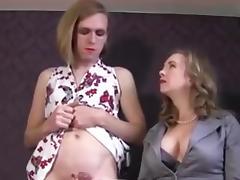 Mistress makes her sissy gurl cum porn tube video