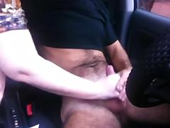 Car Handjob from my wife leads to cum explosion porn tube video