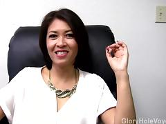 Asian Milf Gloryhole Interview Blowjob porn tube video