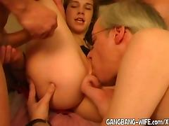 Young amateurs gangbanged for the first time tube porn video
