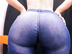 Most Perfect Round Ass In Tight Jeans! Huge Ass Tiny Waist! porn tube video